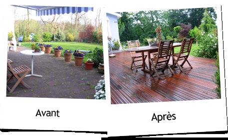 Realisations allemann paysages paysagiste colmar en for Drainage autour d une terrasse